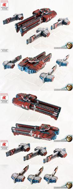 Firestorm Armada Dindrenzi Retribution Dreadnought and Trident Destroyer