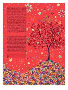 Passion Tree Ketubah by KetubahStudio on Etsy, $169.00