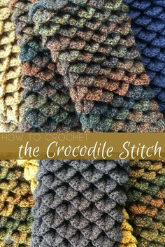The Crocodile Stitch: one of my favorite crochet stitches. This stitch consists of V- stitches, double or half double crochets and a chain. Let me show you!