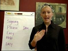 This link should give you access to all 15 videos on Sign Language Lessons with Melissa!     Words: Idea, Lazy, Help, Please, Easy
