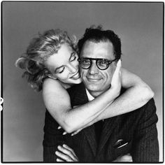 voxsart:  Sometimes, It's Good To Be The Nerd.Arthur Miller and Marilyn Monroe, by Richard Alvedon, 1957.