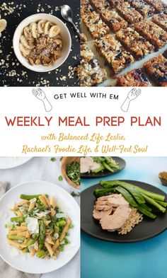 A weekly meal prep plan to streamline your menu for the week! Clean recipes, easy to make, and a total timesaver!