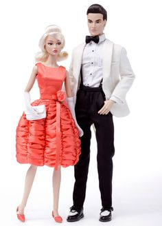 Platinum-haired Poppy Parker and Chip Farnsworth Limited Edition dolls set to be released next month.