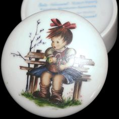 Vintage Hummel Trinket Dish by VintageCastaways on Etsy