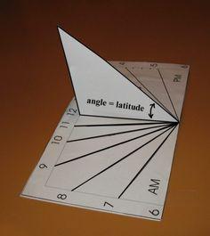 Horizontal Sundial Shadow Angle Calculator
