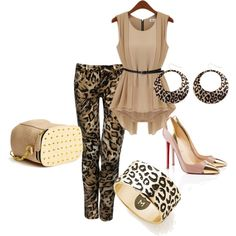 gold leopard by tanya-misener on Polyvore