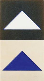 Aus Blaues Dreieck by Blinky Palermo