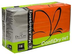 ConfiDry Dry Care Max Absorbency Adult Brief Diapers, Medium, 18 Count - Products Lists of Tools and Hardware Couches, Urinary Incontinence, Disposable Diapers, Skin Cream, Latex Free, Cloth Diapers, Getting Old, Health And Beauty, The Incredibles