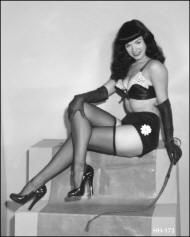Bettie Page in Irving Klaw's Lettered Sets