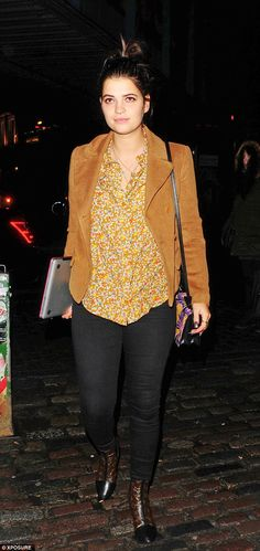 Funkadelic: Pixie Geldof rocks a corduroy jacket and paisley shirt for a DJ gig on Tuesday night
