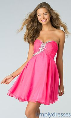 Strapless Homecoming Dress by Alyce Paris 3560 at SimplyDresses.com
