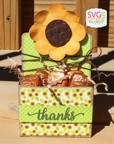 SVG Cutting Files: Thanks - Flower Caddy Box