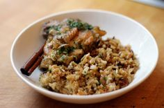 Chicken With Caramelized Onion and Cardamom Rice by NYTimes.com. Delicious Middle-Eastern-inspired one pot meal! #DinnerIdeas #Chicken #OnePot