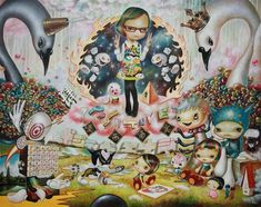 If you dare to enter the world of Japanese artist Yosuke Ueno, get ready for a strange and surreal adventure. Ueno will take you on a magical ride, introducing you to everyone from a giant baby swan to what looks like Rainbow Bright's black sheep cousin. Weird, creepy but in a beautiful kind of way, …