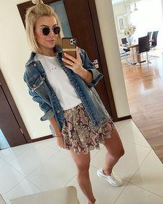 Karolina Franek (@karola_franek) • Instagram photos and videos Vest, Spring Summer, Photo And Video, Denim, Casual, Jackets, Instagram, Videos, Photos