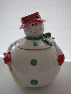Mrs. Snowman Cookie Jar by Fitz & Floyd