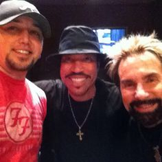 Me, Lionel Richie and Tony Brown recording for Lionel's Tuskegee album