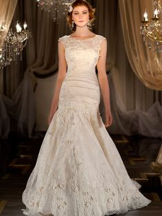 Fit Flare Sweetheart Appliques Pleated Wedding Dress with Illusion Bateau Embroidered Lace Jacket