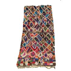 Tapis tableau (ou tapis boucharouette). Type de tapis marocain réalisé à partir de chutes de tissu, nommé ainsi pour leurs similitudes avec certains tableaux de Paul Klee. Alors forcément j'adore!!