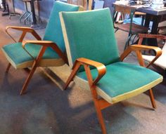 fifties fauteuil 2x Mad Men