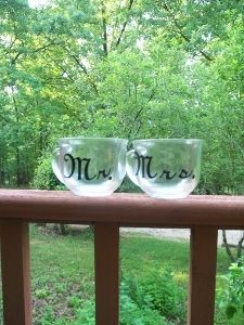coffee cup set Mr. and Mrs.