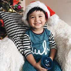 Pure Christmas Joy in his RAGS romper || #tagyourrags || www.ragstoraches.com