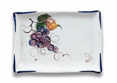 Handmade Rectangular Tray with Grapes From Italy by Italian Pottery Outlet, http://www.amazon.com/dp/B000ULZXV0/ref=cm_sw_r_pi_dp_kkz0qb1R3HW2Q