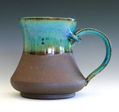 Large Coffee Mug Holds 18 oz handmade ceramic cup by ocpottery,