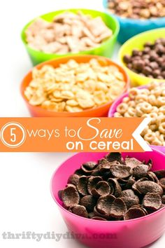 How To Save Money On Cereal - 5 money saving tips that you may not have thought of! Be sure to share this post on National Cereal Day, too!    budgeting tips, budgeting printables #budget
