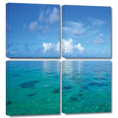 'Lagoon and Reef' by George Zucconi 4 Piece Photographic Print Gallery-Wrapped on Canvas Set