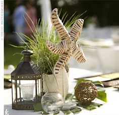 Beach Wedding Table Centerpieces Designs