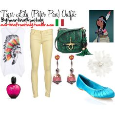 Tiger Lily (Peter Pan) Outfit, created by martinafromitaly on Polyvore