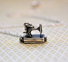The Tiniest Antique Sewing Machine Opens Sterling silver by verabel