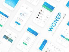 Wonep: Free Sketch UI kit for calling apps