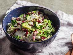Broccoli Salad With Radicchio, Basil, and Pistachios Recipe | Serious Eats
