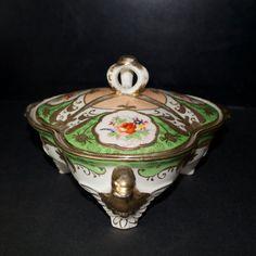 Vintage Dragon Handled Covered Dish by Moriyama by Hallingtons Japanese Porcelain, Fine Porcelain, Antique China, Or Antique, Vintage Shops, Vintage Antiques, Antique Glassware, Painting Trim, Vintage Dishes