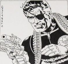 Nick Fury drawing by Steranko