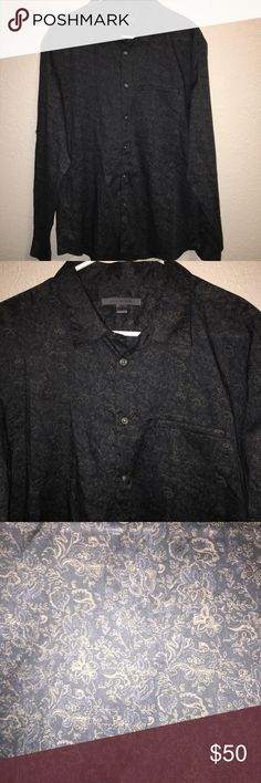 John Varvatos XL Patterned Button Up Shirt Excellent condition! John Varvatos Shirts Dress Shirts