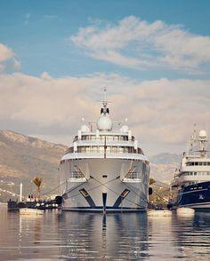 It's a superyacht kind of Monday #superyacht #superyachtmarina #yachtlife #portomontenegro by porto_montenegro