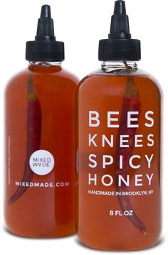 Bees Knees Spicy Honey | A hand made melange combining raw honey from the Hudson Valley and a special combination of chili peppers using a cool-infusion technique that leaves both flavors unaltered.