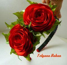 .Headband  with  2  roses