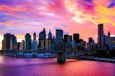 New York. (Esp. walking The Brooklyn Bridge)