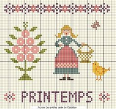 Printemps - Spring - Primavera - Frühling (grille gratuite)
