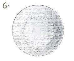 Set de 6 platos de pizza en vidrio - Ø35 cm