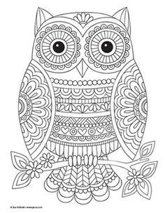 Owl Coloring Pages, Free Adult Coloring Pages, Mandala Coloring Pages, Coloring Books, Printable Coloring, Coloring Sheets, Free Coloring, Mandala Doodle, Mandala Art Lesson