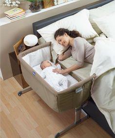 Chicco - Next2Me Crib - Dove Grey - Cot Beds, Cots & Cribs - Mamas & Papas