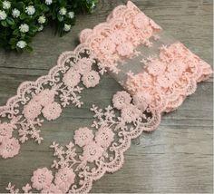 FP03H 12cm/1 Yard Dress Skirt Handicraft Embroidered Net Lace Trim Ribbon cotton #Unbranded