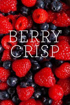 Use summer fresh berries to make this delicious berry crisp! Find the recipe on Delish Dish: http://www.bhg.com/blogs/delish-dish/2013/07/11/berry-crisp-guest-blogger-jennifer-chong/?socsrc=bhgpin071113berrycrisp