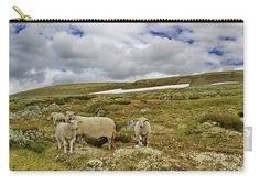 Sheep on pasture Carry-All Pouch by Ren Kuljovska. They're availabe in sizes from x up to x Each pouch is printed on both sides (same image). Staying Organized, Travel Photographer, Basic Colors, Poplin Fabric, How To Be Outgoing, Color Show, Heavy Metal, Colorful Backgrounds, Carry On