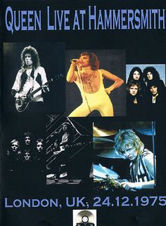 """Queen in Concert at the""""Hammersmith""""-Odeon In London UK. at 24.12.1975 Now I'm Here, Ogre Battle, White Queen, Bohemian Rhapsody (verses), Killer Queen, The March Of The Black Queen, Bohemian Rhapsody (reprise), Bring Back That Leroy Brown, Brighton Rock, Son And Daughter, Keep Yourself Alive, Liar, In The Lap Of The Gods...Revisited, Big Spender, Jailhouse Rock, Seven Seas Of Rhye, See What A Fool I've Been, God Save The Queen"""